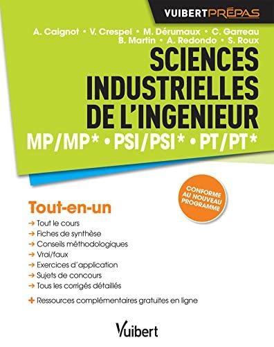 9782311400342: Sciences industrielles de l'ingénieur - MP/MP* PSI/PSI* PT/PT*