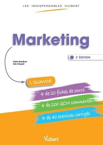9782311400441: Marketing - Fiches de cours - QCM Commentés - Exercices corrigés