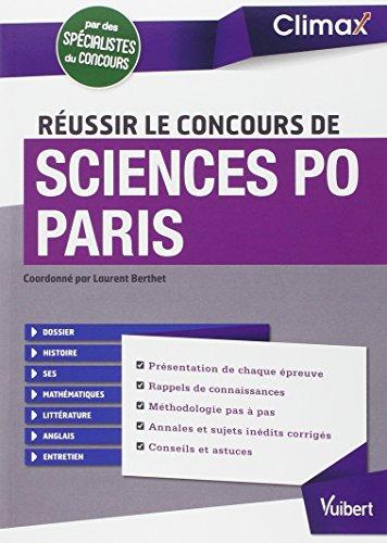 9782311400519: Réussir le concours de Sciences Po Paris