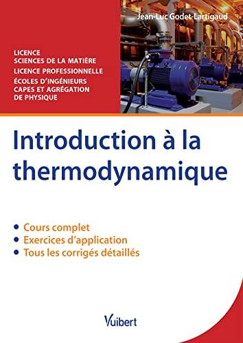 9782311400816: Introduction a la thermodynamique