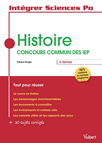 9782311401417: histoire ; concours commun des IEP