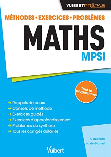 9782311402162: Maths MPSI - Méthodes. Exercices. Problèmes