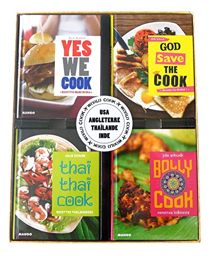 9782317007163: World Cook : Coffret 4 volumes : Yes we cook ; God save the cook ; Thaï thaï cook ; Bolly cook