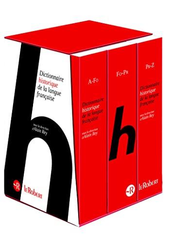 9782321000679: Le Dictionnaire Historique de la langue française - coffret 3 volumes