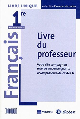 9782321000808: Français 1re Livre unique