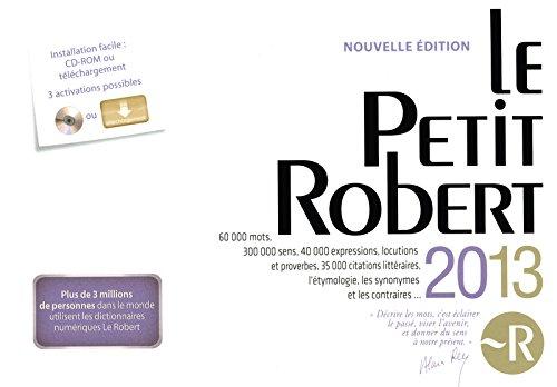 9782321001348: Le Petit Robert 2013