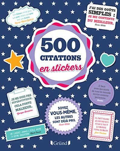 9782324010712: 500 stickers Citations