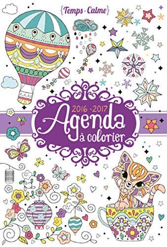 9782324017612: Agenda à colorier 2016-2017