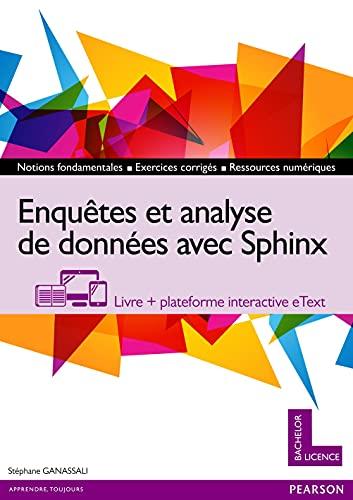 9782326000735: Enquêtes et analyse de données avec Sphinx : Livre + plateforme interactive eText