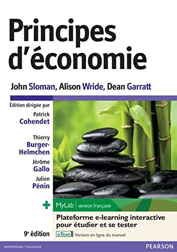 Principes d'économie 9e édition : Livre +: John Sloman; Alison