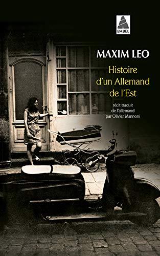 9782330022778: Histoire d'un Allemand de l'Est