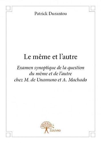 9782332673220: Le Meme et l'Autre
