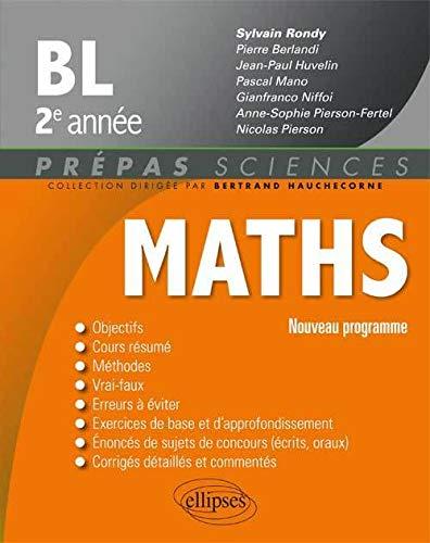 9782340000155: Mathematiques Bl 2e Annee Nouveau Programme 2014