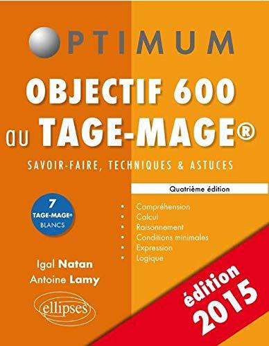 9782340001084: Objectif 600 au Tage-Mage® Édition 2015