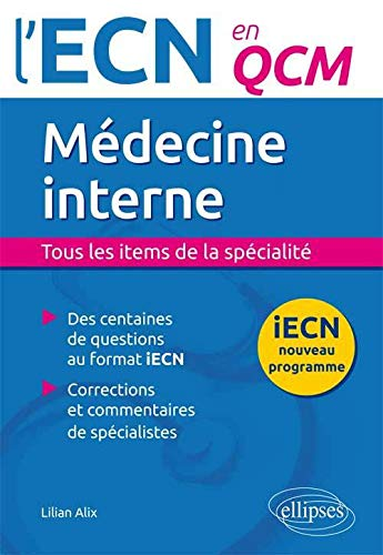 9782340001831: Médecine Interne l'ECN en QCM Programme 2016