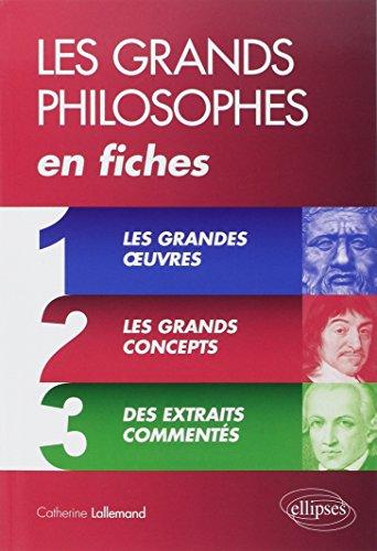 9782340002883: Les Grands Philosophes en Fiches