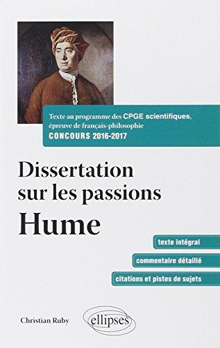 Dissertation sur les passions: David Hume