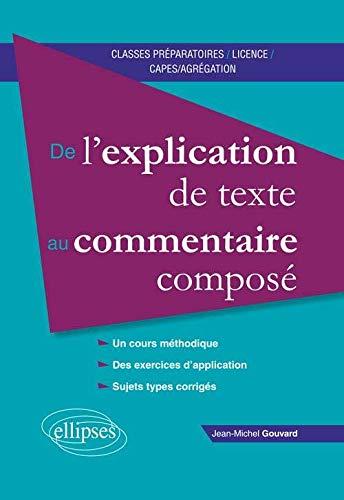 9782340005785: De l'Explication de Texte au Commentaire Compos�