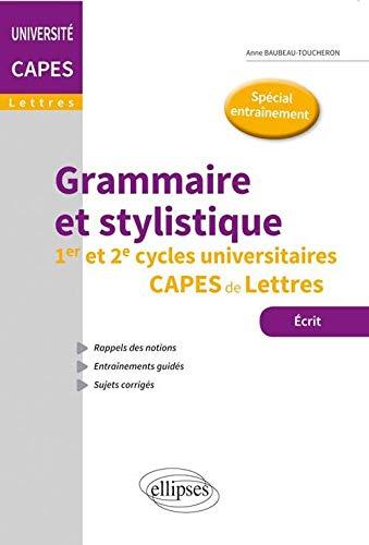 9782340005990: Grammaire et Stylistique CAPES Lettres