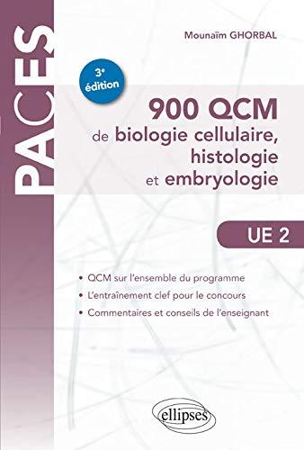 9782340008038: 900 QCM de biologie cellulaire, histologie et embryologie (PACES)