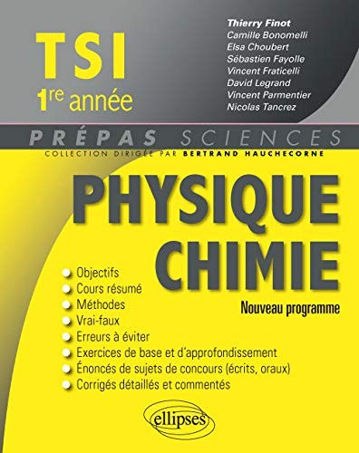 9782340008830: Physique Chimie TSI 1re Année