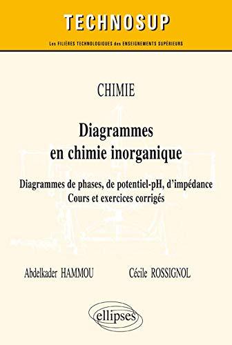 9782340009172: Chimie : diagrammes en chimie inorganique : diagrammes de phases, de potentiel-pH, d'impédance, cours et exercices corrigés