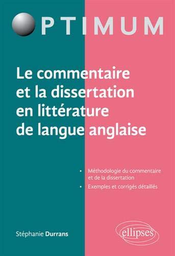 dissertation et commentaire