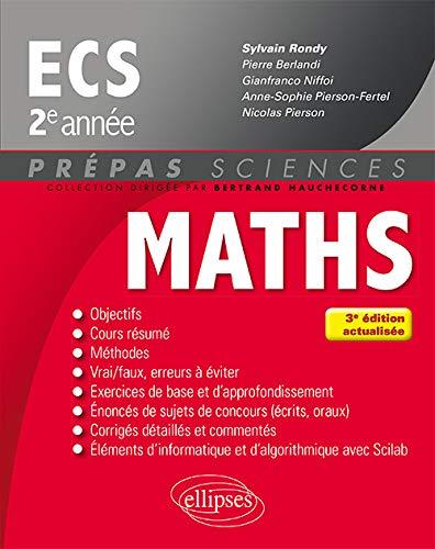 9782340016477: Mathématiques ECS 2e année - 3e édition actualisée