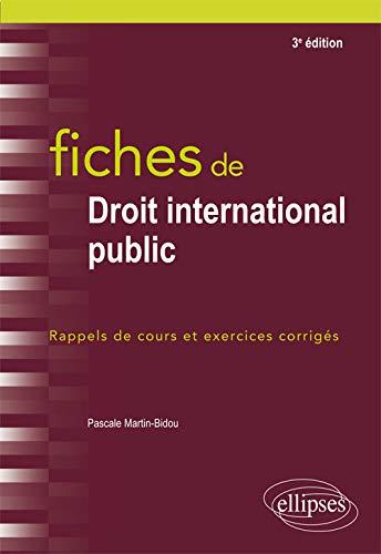 9782340019812: Fiches de droit international public - 3e édition