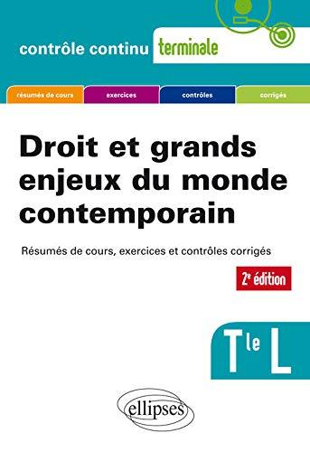 9782340020085: Droit et grands enjeux du monde contemporain - Terminale L - 2e édition mise à jour