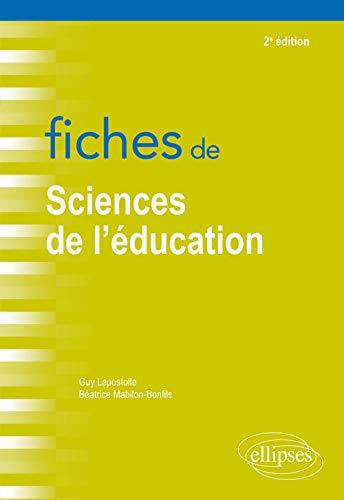 9782340022980: Fiches de sciences de l'éducation - 2e édition
