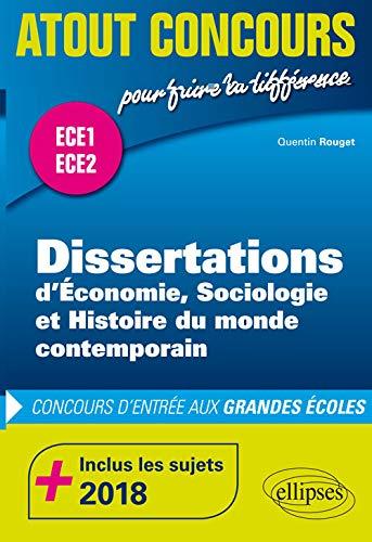 9782340027169: Dissertations d'ESH - prépas ECE1 et ECE2 - inclus les sujets 2018