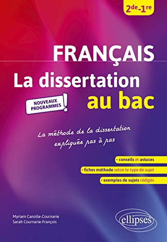 9782340036772: La dissertation de français au bac, Seconde Première