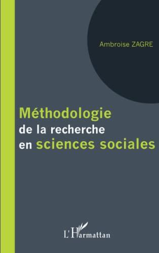 9782343001043: Méthodologie de la recherche en sciences sociales