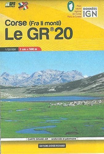 9782344000434: Carte en poche Corse : le GR20