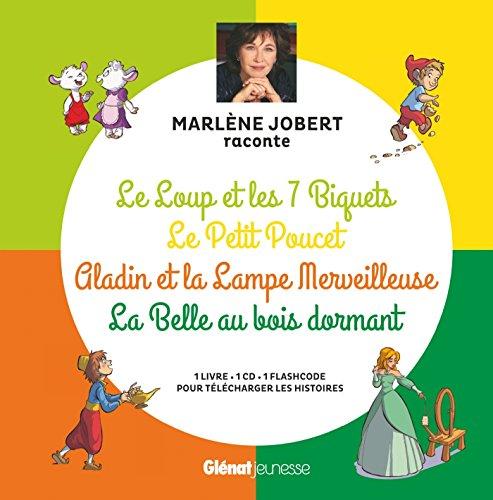 9782344021088: Marlène Jobert raconte Le loup et les 7 biquets, Le Petit Poucet, Aladin, La Belle au bois dormant