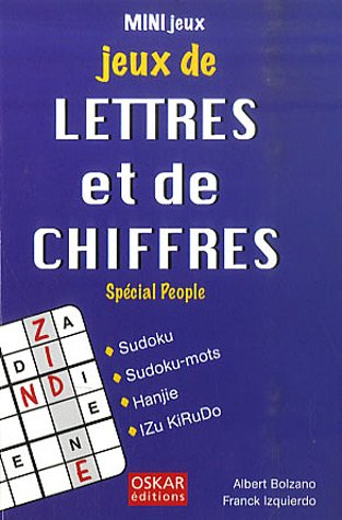 9782350001791: Jeux de lettres et de chifres: spécial people
