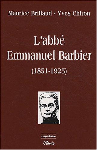 9782350050119: L'abbé Emmanuel Barbier (1851-1925)