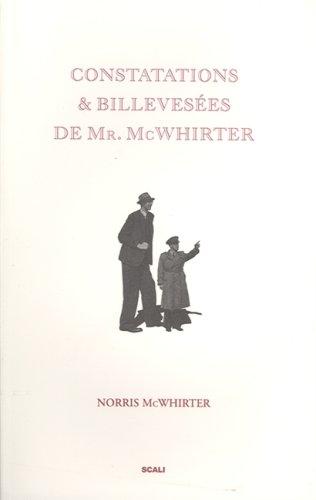 9782350120690: Constatations & billevesées de Mr. McWhirter