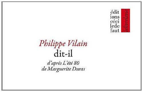 9782350183039: Dit-il (French Edition)