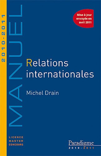 9782350200729: Relations internationales 2010-2011