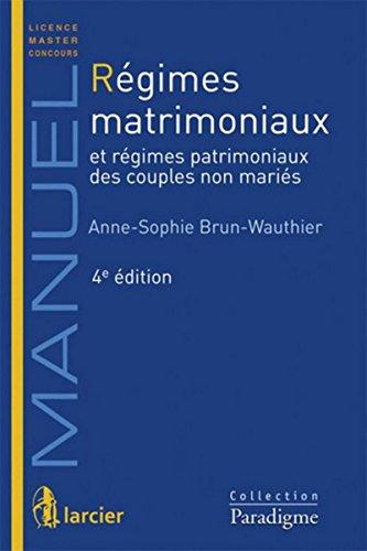 9782350209852: Régimes Matrimoniaux, Quatrième Édition