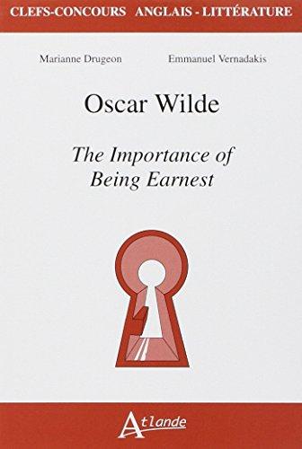 9782350302775: Oscar Wilde, the Importance of Being Earnest