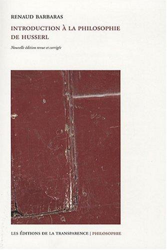 9782350510415: Introduction a la Philosophie de Husserl Ne