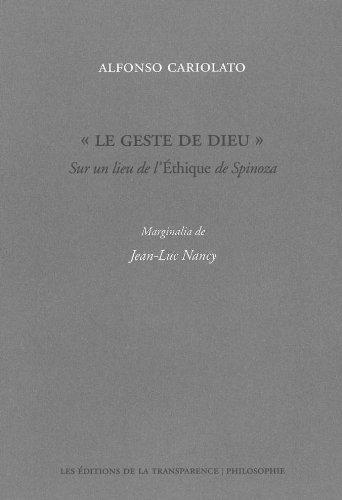 "Le geste de Dieu"" : Sur un: Alfonso Cariolato; Jean-Luc"