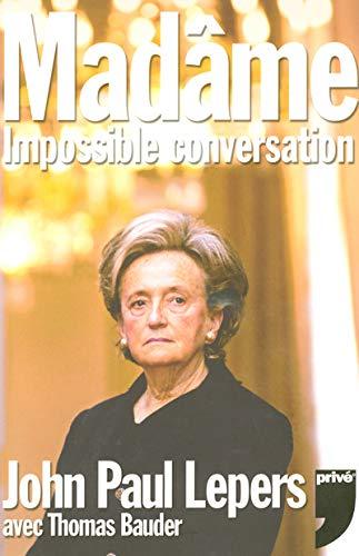 9782350760148: Madâme : Impossible conversation