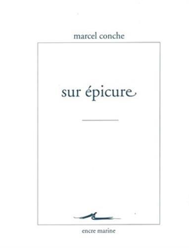9782350880822: Sur Épicure (Encre Marine) (French Edition)