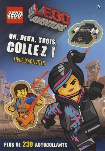 9782351007594: La grande Lego aventure : Un, deux, trois, collez ! Livre d'activit�s