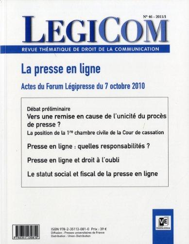Legicom, N° 46/2011/1 (French Edition): Collectif
