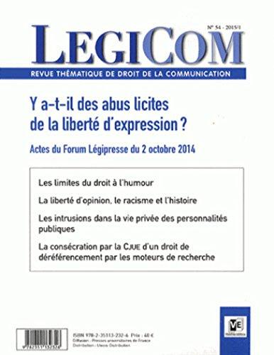Revue Legicom, no 54: Collectif